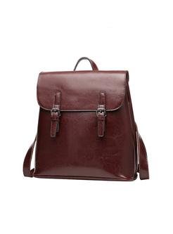Vintage Magnetic Lock Travel Backpack