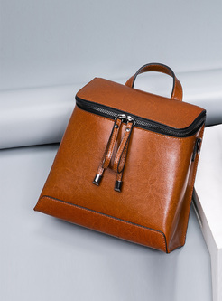 Chic Zipper Pocket Travel Backpack