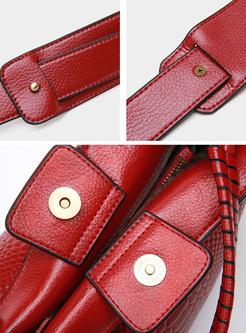 Classic Magnetic Lock Top Handle Bag