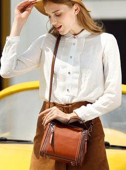 Vintage Zippered Top Handle & Crossbody Bag