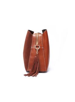 Casual Cowhide Tassel Shoulder Bag