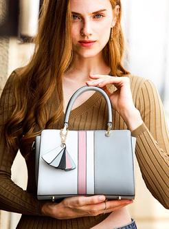 Chic Color-blocked Top Handle & Crossbody Bag