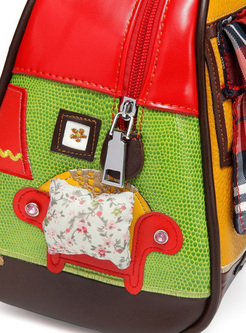 Chic Cartoon Patched Crossbody Bag