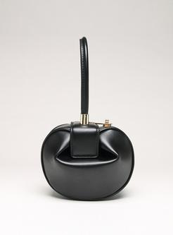 Chic Split Cowhide Dumpling-shape Bag