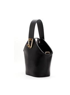 Casual Color-blocked Asymmetric Lock Barrel Bag