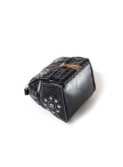 Chic Weave Drilling Tassel Satchel Bag