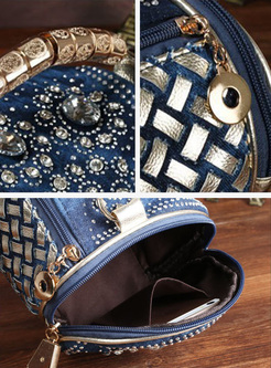 Street Drilling Weave Boston Bag