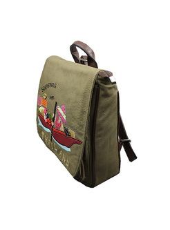 Casual Boat Embroidery Backpack