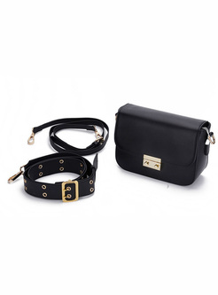 Rivet Wide Shoulder Strap Crossbody Bag