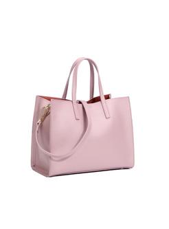 Brief Solid Color Top Handle & Crossbody Bag