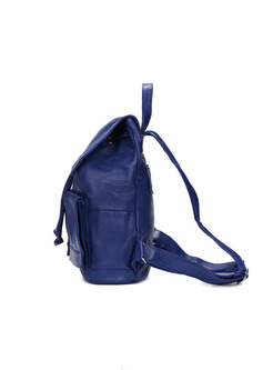 Fashion Drawstring Solid Color Backpack