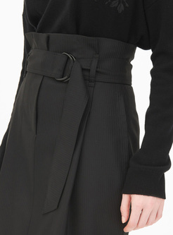 Black High Waist Bodycon Skirt
