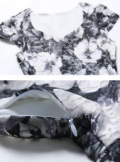 Floral Print V-neck Maxi Dress
