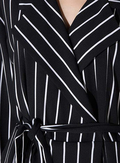 Chic Monochrome Striped Rompers