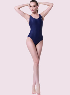 Brief Backless Halter Neck One Piece Swimwear