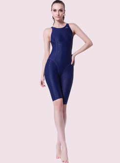 Halter Neck One Piece Sport Swimwear