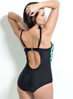 Sexy Dot Print One-piece Swimwear