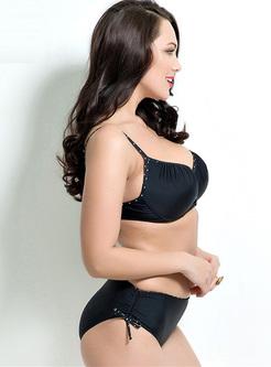 Brief V-neck Tankini Bikini