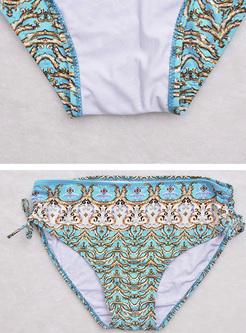 Sexy Oversized Floral Print Bikini