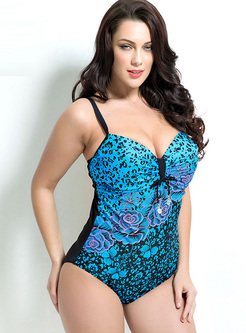Sexy Leopard Print One-piece Swimwear