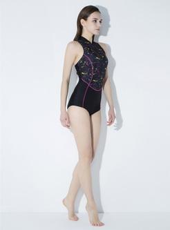 Plain Digital Print Swimwear