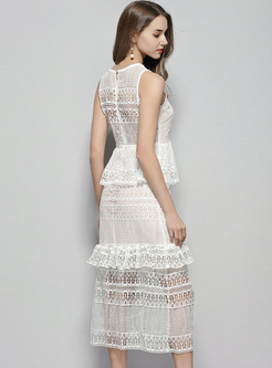 Sexy Lace Perspective A-line Dress
