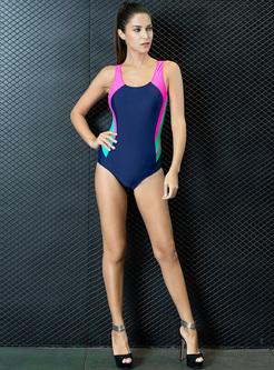 Fashion Slim Sport Scoop Neckline Swimwear