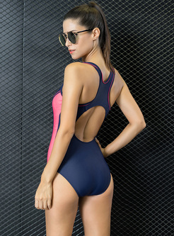 Brief Sheath Contrast Color Swimwear