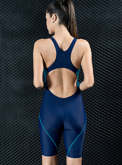 Sheath Backless Sport One Piece Swimwear