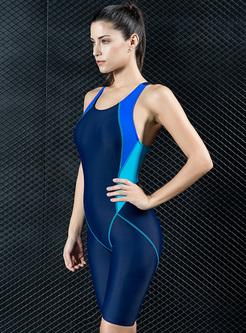Sheath Backless Sport One Piece Swimwear