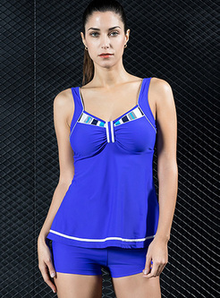 Fashion Slim V-neck Tankini