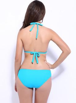 Sexy Stylish Halter Neck Sandbeach Bikini