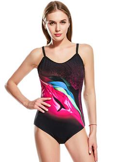 Multi-color Print Sport Swimwear