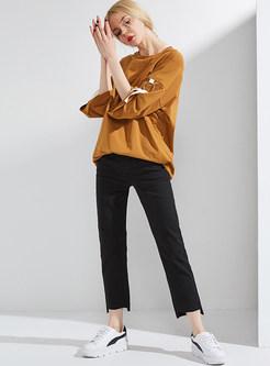 Black Street Fashion Pencil Pants