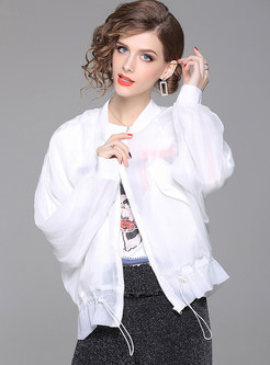 White Fashion Perspective Short Coat
