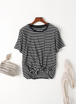 Black Striped Short Sleeve T-shirt