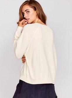 Brief Letter Pattern Loose Sweatshirt