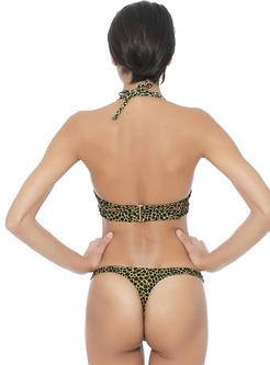 Sexy Leopard Print Brazilian Bikini
