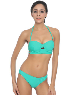Green Hollow 2 Pieces Venus Bikini
