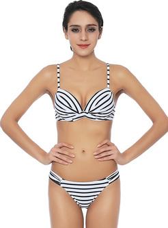 Sexy Monochrome Leopard Brazilian Bikini