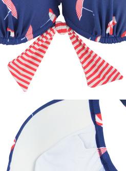 Print Triangle Micro Girl Bikini