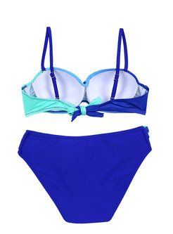Sexy Gradient Tied Bikini Set