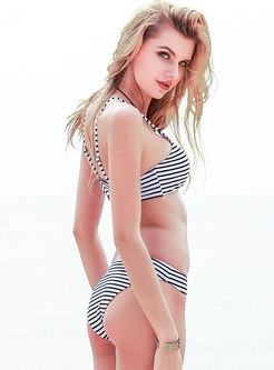Beach Striped juniors swimsuits Bikini