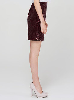 Sexy Mini Pencil Sequin Skirt