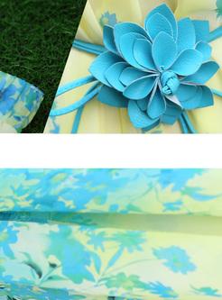 Bohemia Butterfly Print A-line Chiffon Skirt