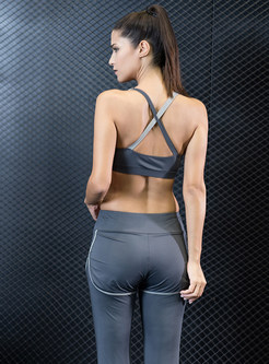Brief Sport Bra & Fake Two-piece Pants