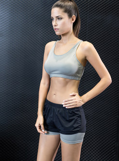 See Through Mesh Short Tracksuit With Sport Bra