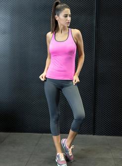 Stylish Slim Sleeveless Yoga Tracksuit