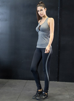 Stylish Slim Yoga Sleeveless Tracksuit