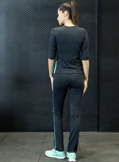 Brief Three Quarters Sleeve Yoga Tracksuit